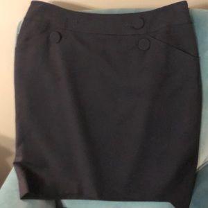 Navy Ann Taylor Skirt